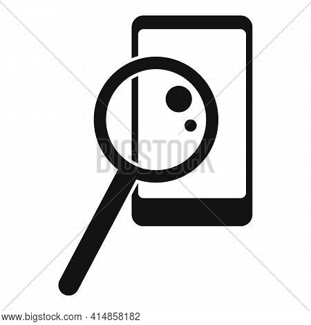 Analyze Smartphone Icon. Simple Illustration Of Analyze Smartphone Vector Icon For Web Design Isolat