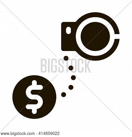 Jail Or Freedom For Money Bail Glyph Icon Vector. Jail Or Freedom For Money Bail Sign. Isolated Symb