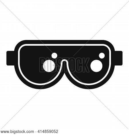 Ski Protective Glasses Icon. Simple Illustration Of Ski Protective Glasses Vector Icon For Web Desig