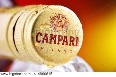 Cap On A Campari Bottle