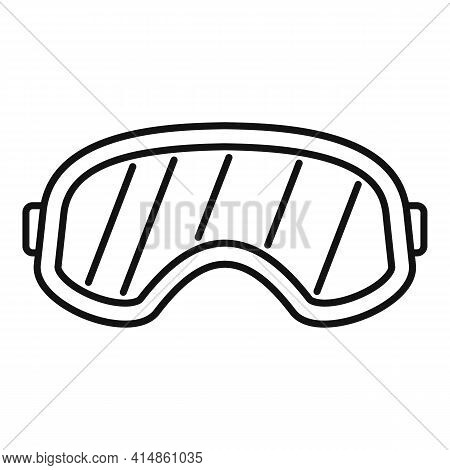 Snowboarding Glasses Icon. Outline Snowboarding Glasses Vector Icon For Web Design Isolated On White