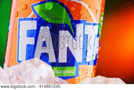 Can Of Fanta Carbonated Soft Drink