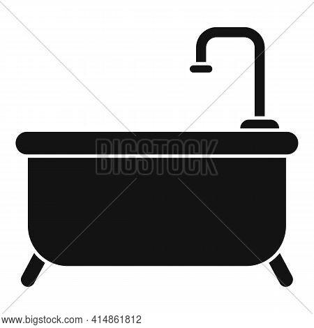 Classic Shower Bathtub Icon. Simple Illustration Of Classic Shower Bathtub Vector Icon For Web Desig