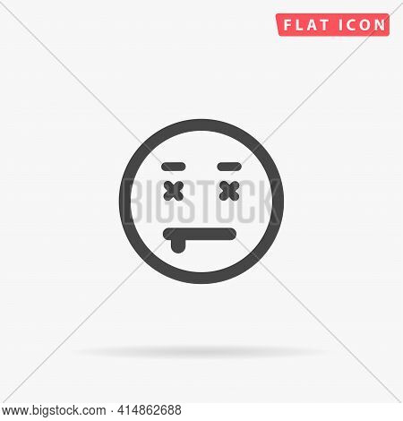 Die Face Flat Vector Icon. Hand Drawn Style Design Illustrations.