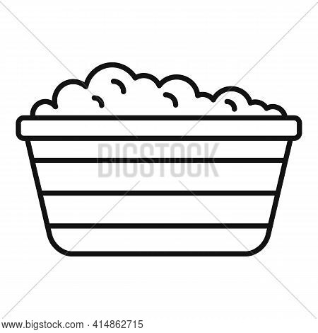 Foam Basin Icon. Outline Foam Basin Vector Icon For Web Design Isolated On White Background