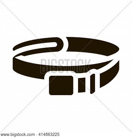 Leather Belt Glyph Icon Vector. Leather Belt Sign. Isolated Symbol Illustration