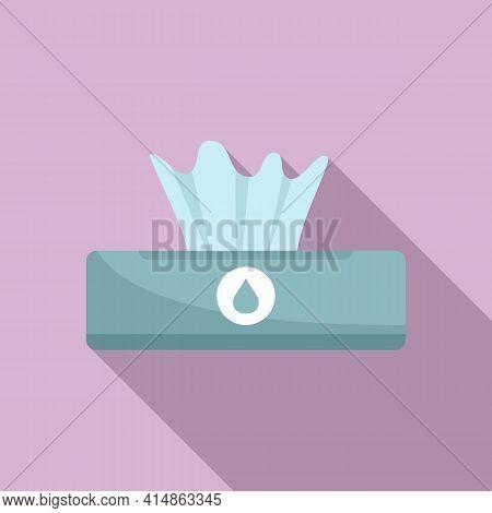 Antiseptic Wet Napkin Icon. Flat Illustration Of Antiseptic Wet Napkin Vector Icon For Web Design
