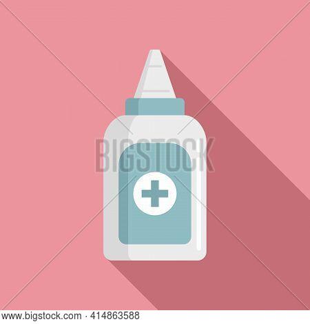 Antiseptic Hand Drop Icon. Flat Illustration Of Antiseptic Hand Drop Vector Icon For Web Design
