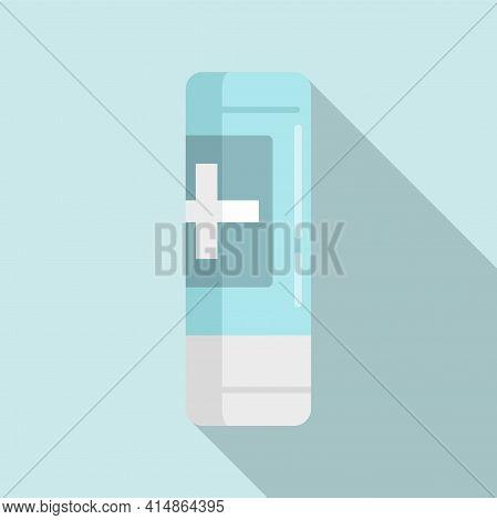 Foam Antiseptic Icon. Flat Illustration Of Foam Antiseptic Vector Icon For Web Design