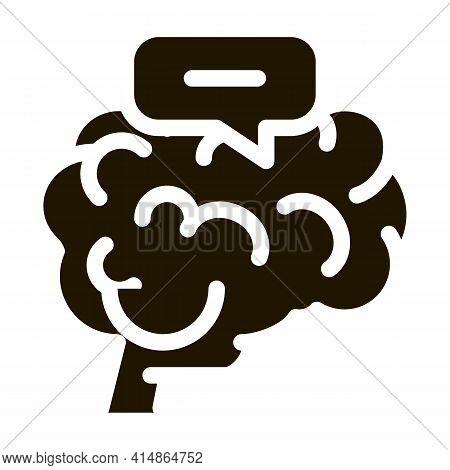 Dementia Brain Glyph Icon Vector. Dementia Brain Sign. Isolated Symbol Illustration