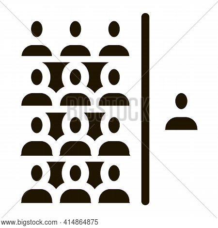 Human Dementia Per Population Glyph Icon Vector. Human Dementia Per Population Sign. Isolated Symbol
