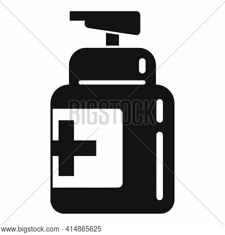 Pump Antiseptic Icon. Simple Illustration Of Pump Antiseptic Vector Icon For Web Design Isolated On