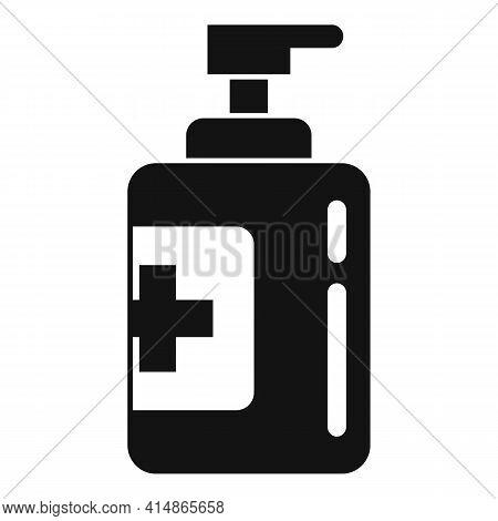 Bacteria Antiseptic Icon. Simple Illustration Of Bacteria Antiseptic Vector Icon For Web Design Isol