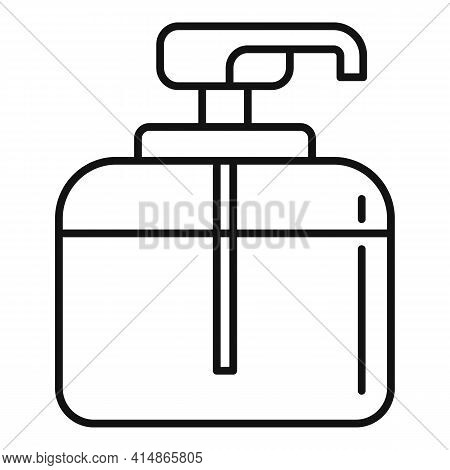 Apply Antiseptic Bottle Icon. Outline Apply Antiseptic Bottle Vector Icon For Web Design Isolated On