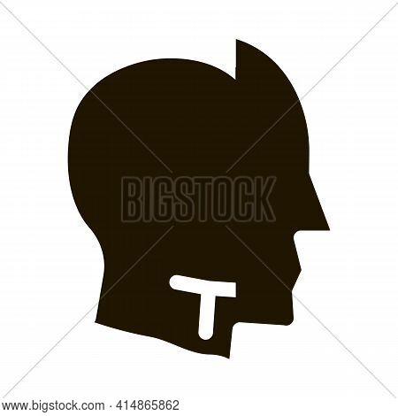 Human Head Copy Silhouette Glyph Icon Vector. Human Head Copy Silhouette Sign. Isolated Symbol Illus