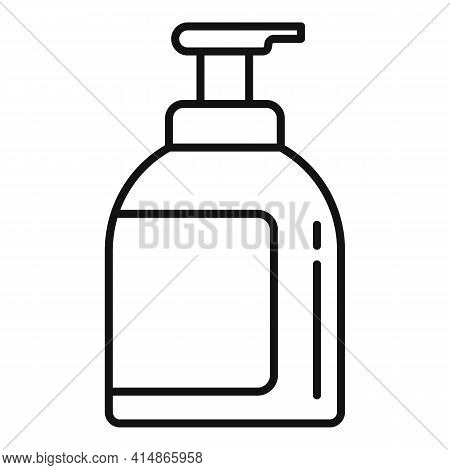 Pump Antiseptic Icon. Outline Pump Antiseptic Vector Icon For Web Design Isolated On White Backgroun