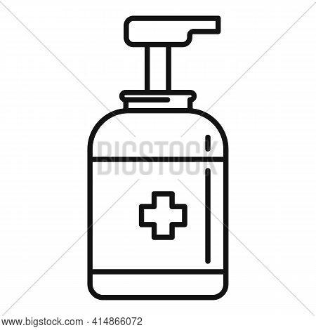 Antiseptic Dispenser Icon. Outline Antiseptic Dispenser Vector Icon For Web Design Isolated On White