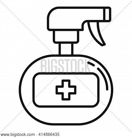 Antiseptic Home Spray Icon. Outline Antiseptic Home Spray Vector Icon For Web Design Isolated On Whi
