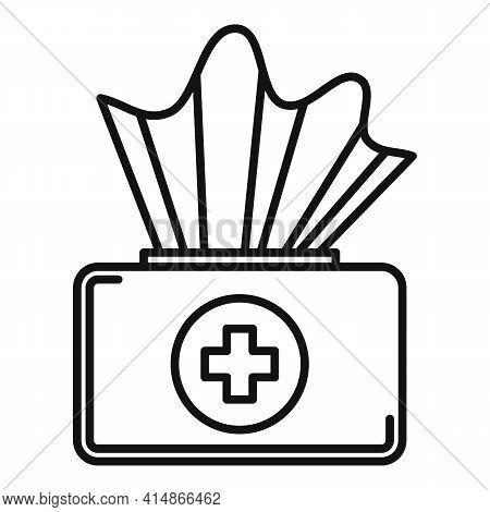Antiseptic Medical Napkin Icon. Outline Antiseptic Medical Napkin Vector Icon For Web Design Isolate