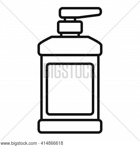 Coronavirus Dispenser Antiseptic Icon. Outline Coronavirus Dispenser Antiseptic Vector Icon For Web