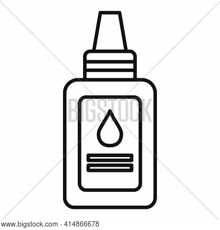 Antiseptic Dropper Icon. Outline Antiseptic Dropper Vector Icon For Web Design Isolated On White Bac
