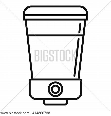 Soap Wall Dispenser Icon. Outline Soap Wall Dispenser Vector Icon For Web Design Isolated On White B