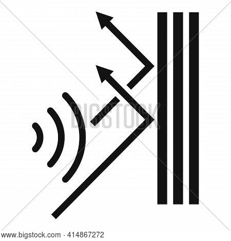Soundproof Reflect Wall Icon. Simple Illustration Of Soundproof Reflect Wall Vector Icon For Web Des