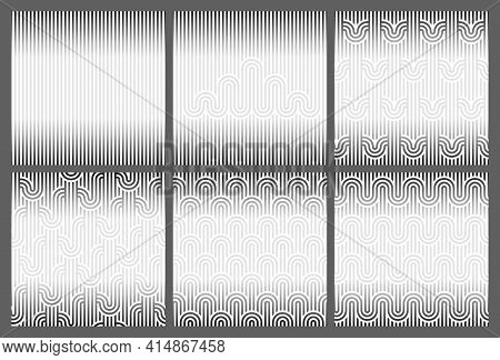 Seamless Geometric Striped Background For Text. Template With Copy Space. Endless Striped Monochrome