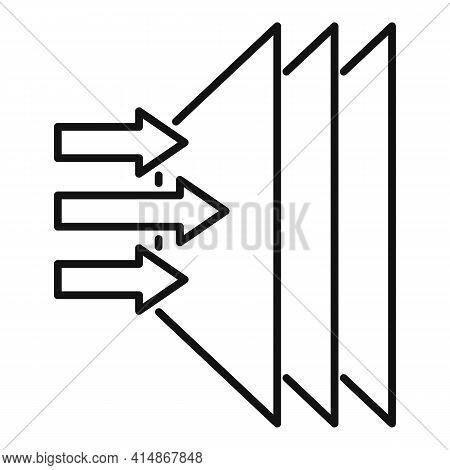 Soundproofing Layer Icon. Outline Soundproofing Layer Vector Icon For Web Design Isolated On White B