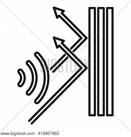 Soundproof Reflect Wall Icon. Outline Soundproof Reflect Wall Vector Icon For Web Design Isolated On
