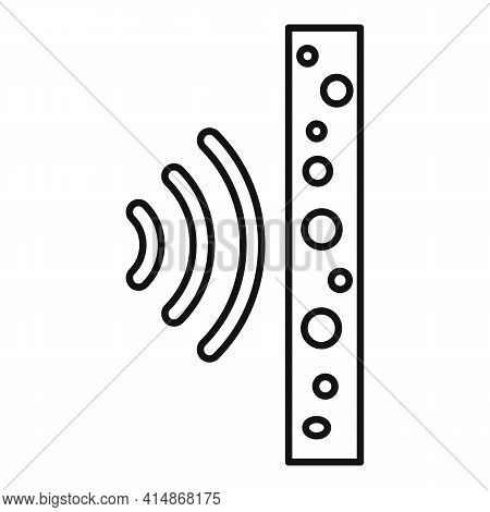 Foam Soundproof Wall Icon. Outline Foam Soundproof Wall Vector Icon For Web Design Isolated On White