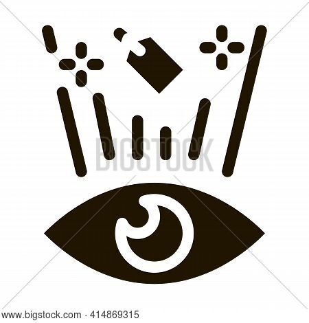 Price Label See Human Eye Glyph Icon Vector. Price Label See Human Eye Sign. Isolated Symbol Illustr