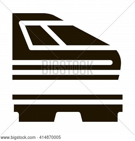 Electromagnetic Train Glyph Icon Vector. Electromagnetic Train Sign. Isolated Symbol Illustration
