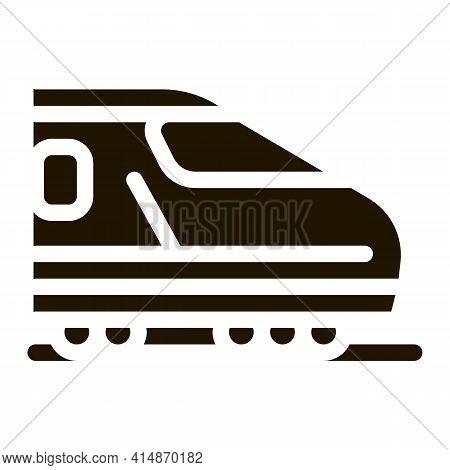 Electric Passenger Train Glyph Icon Vector. Electric Passenger Train Sign. Isolated Symbol Illustrat