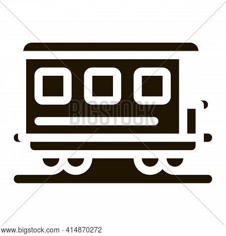 Passenger Railway Carriage Glyph Icon Vector. Passenger Railway Carriage Sign. Isolated Symbol Illus