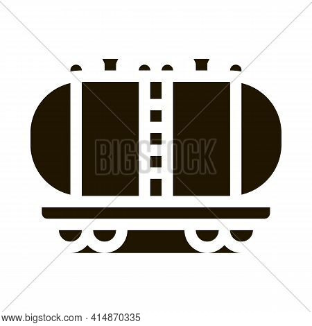 Oil Product Carriage Wagon Glyph Icon Vector. Oil Product Carriage Wagon Sign. Isolated Symbol Illus