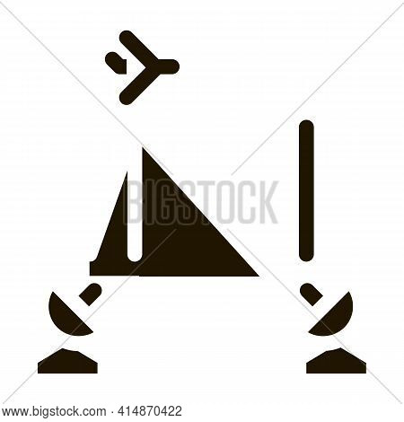 Air Navigation Course Glyph Icon Vector. Air Navigation Course Sign. Isolated Symbol Illustration