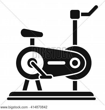 Cardio Exercise Bike Icon. Simple Illustration Of Cardio Exercise Bike Vector Icon For Web Design Is