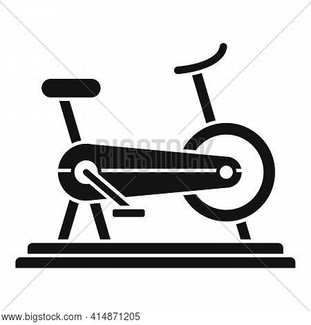 Muscle Exercise Bike Icon. Simple Illustration Of Muscle Exercise Bike Vector Icon For Web Design Is