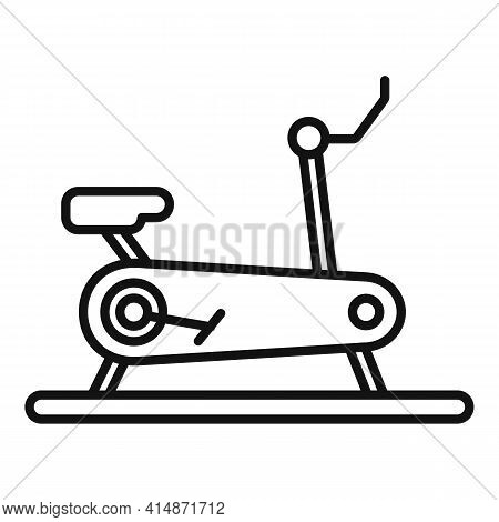Indoor Exercise Bike Icon. Outline Indoor Exercise Bike Vector Icon For Web Design Isolated On White