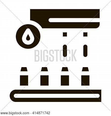 Juice Conveyor Glyph Icon Vector. Juice Conveyor Sign. Isolated Symbol Illustration