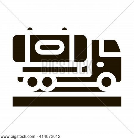 Fruit Delivering Cargo Glyph Icon Vector. Fruit Delivering Cargo Sign. Isolated Symbol Illustration