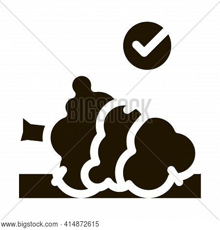 Felled Tree Glyph Icon Vector. Felled Tree Sign. Isolated Symbol Illustration