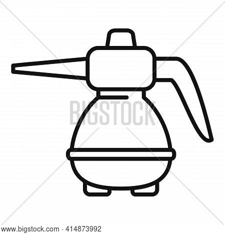 Wash Steam Cleaner Icon. Outline Wash Steam Cleaner Vector Icon For Web Design Isolated On White Bac