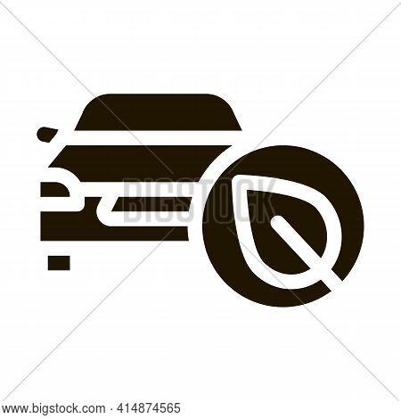 Electro Eco Car Glyph Icon Vector. Electro Eco Car Sign. Isolated Symbol Illustration