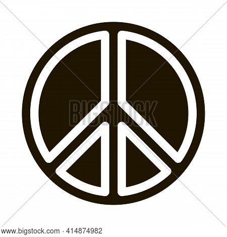 Lgbt Hippie Love Freedom Sign Glyph Icon Vector. Lgbt Hippie Love Freedom Sign Sign. Isolated Symbol