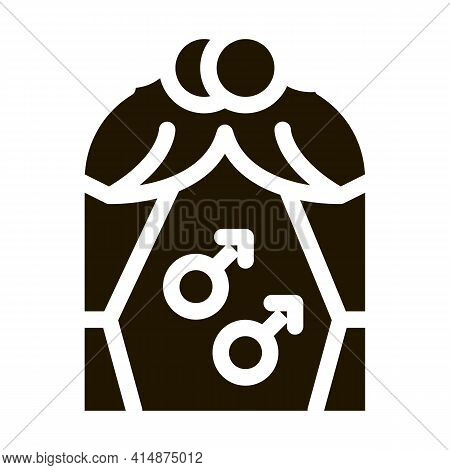 Gay Marriage Glyph Icon Vector. Gay Marriage Sign. Isolated Symbol Illustration