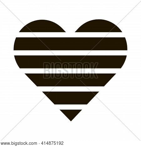 Lgbt Heart Glyph Icon Vector. Lgbt Heart Sign. Isolated Symbol Illustration