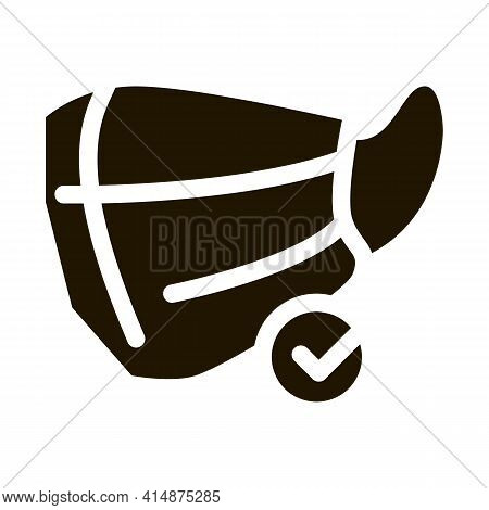 Facial Mask Glyph Icon Vector. Facial Mask Sign. Isolated Symbol Illustration