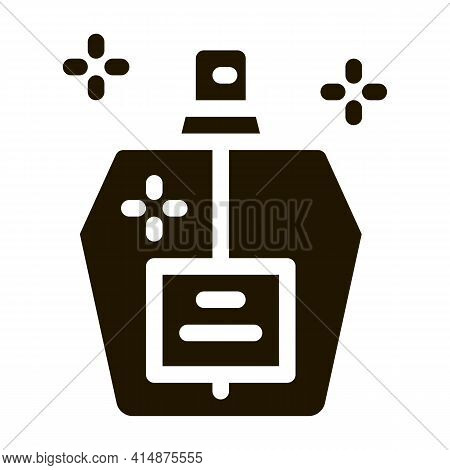 Aroma Odor Parfume Glyph Icon Vector. Aroma Odor Parfume Sign. Isolated Symbol Illustration